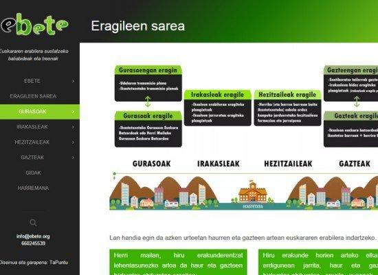 EBETE proiektuaren web-orri berria