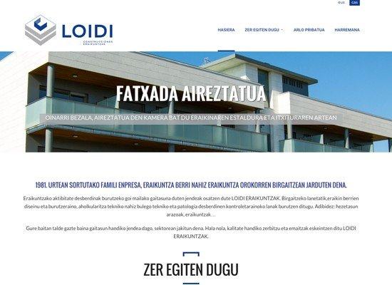 Construcciones Loidi web-orria