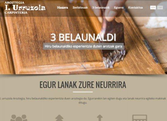 I Urruzola Aroztegiaren web proiektua