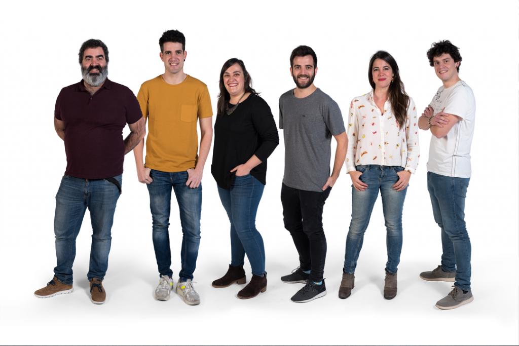 TaPuntu taldea: Ekain Arotegi, Arkaitz Sukuntza, Ainhoa Iribar, Mikel Olaiz, Goretti Aranburu, Aritz Etxeberria